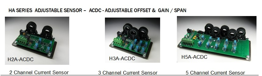 The HXA-ACDC-XX Amps measurement sensor is a Hall effect dc or ac current sensor transducer linear response - Honeywell CSLA technology