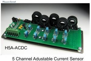 5 current transducer pcb adjustable gain