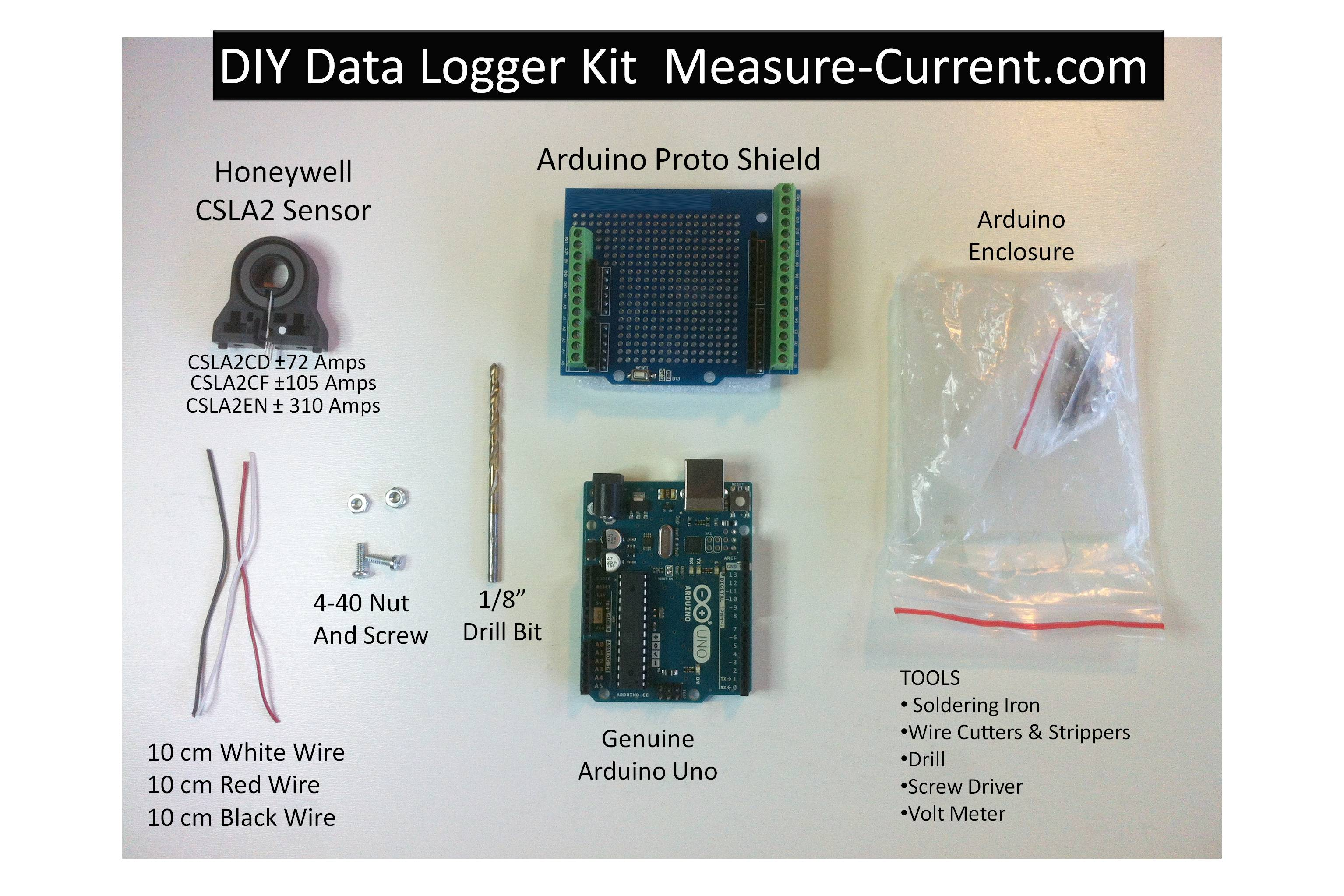 Diy Byo Do It Yourself Ac Dc Hall Effect Current Sensor Transducer Monitor Wiring Diagram Arduino Amps Data Logger Kit Free Plans