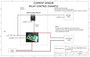 Application note sensor driven relay